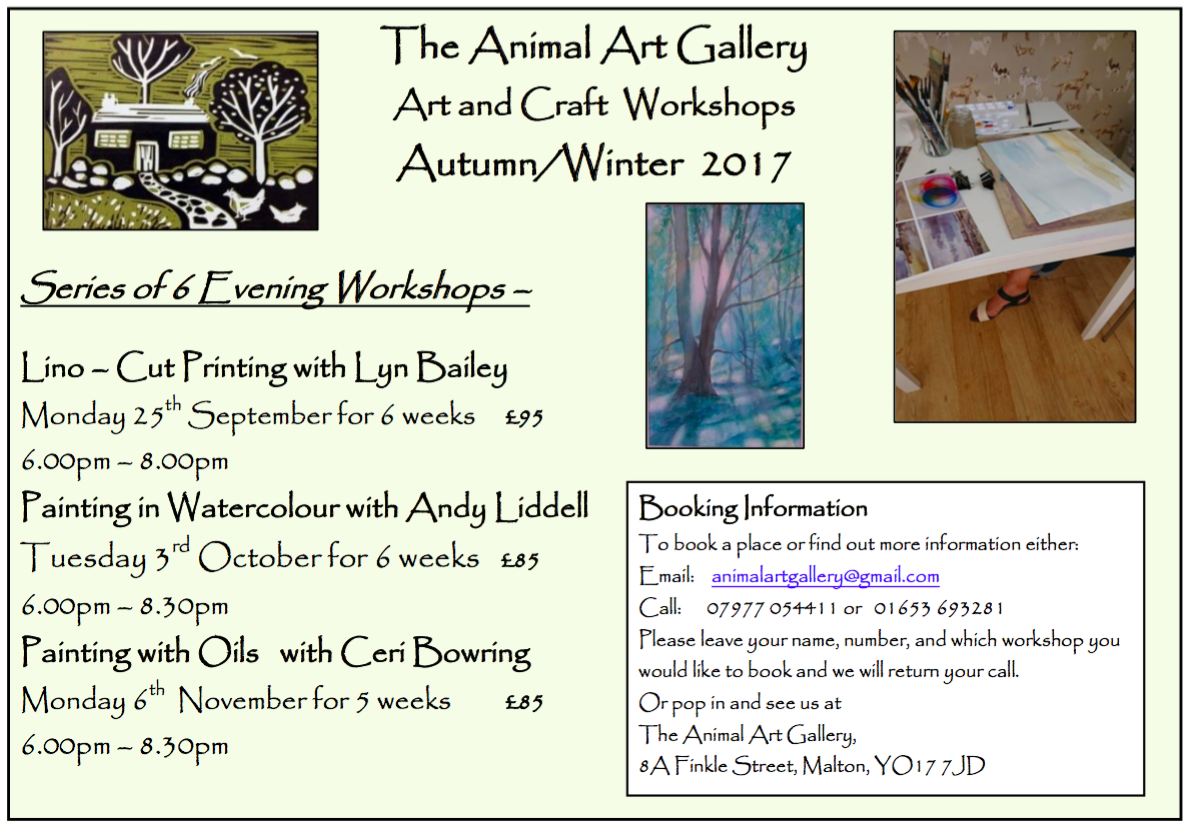 Series of 6 Evening Workshops